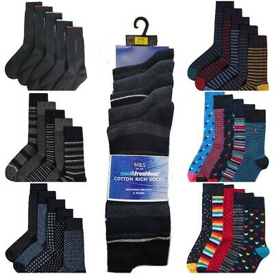 Fa M ou S High St Store Men's 5 Pairs Cool & Freshfeet Assorted Cotton Socks