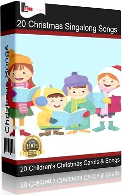 20 Children's Christmas Singalong Songs/Carols CD | Kid's Xmas Favourites |