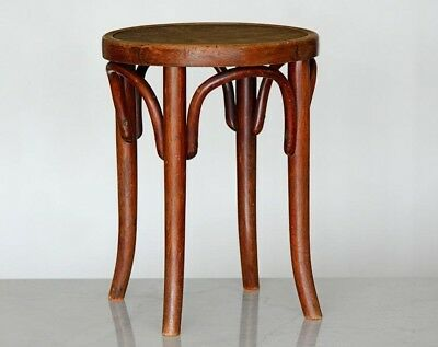 Thonet WIEN AUSTRIA  Bentwood Stool Original ca 1910 MARKED