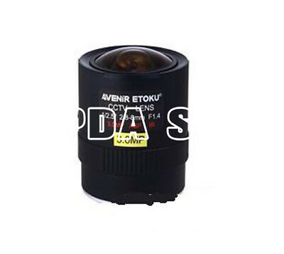 "1PC AVENIR SSV2808IRMP 3Megapixel 1/2.5"" 2.8-8mm F1.4 industrial Camera lens#SS"