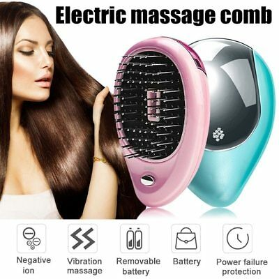 2019 Portable Electric Ionic Hairbrush Takeout Mini Ion Hair Brush Comb Massage