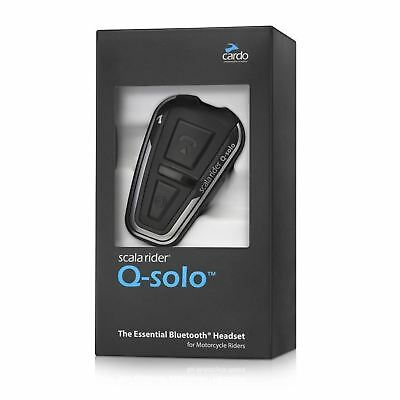 Cardo Scala Rider Q-solo Motorcycle Helmet Bluetooth Headset for Calls GPS MP3