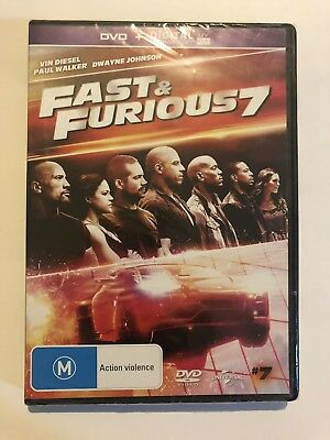 Fast & Furious 7 (DVD, 2015) Brand New & Sealed Rated M Region 2&4 Rated M