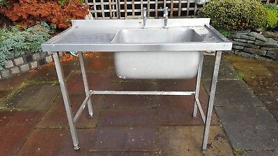 small single stainless steel comercial sink