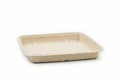 FOOD TRAY BIO BAGASSE 207 X 130 X 20mm (100) TAKEAWAY, DISPOSABLE