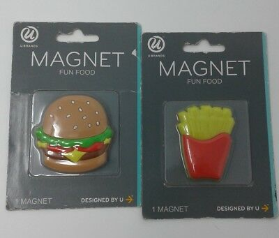 Cheeseburger and French Fry Magnets U  Brands Fun Food Magnets