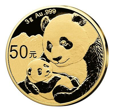 China Panda 50 Yuan 2019 st 999er Gold 3g