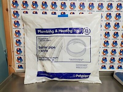 polypipe barrier pipe coils push fit white 15mm x 25 Mtr (M)