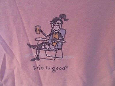 cb91fc63133 NWT LIFE IS Good Womens Cotton Crusher Tee-.
