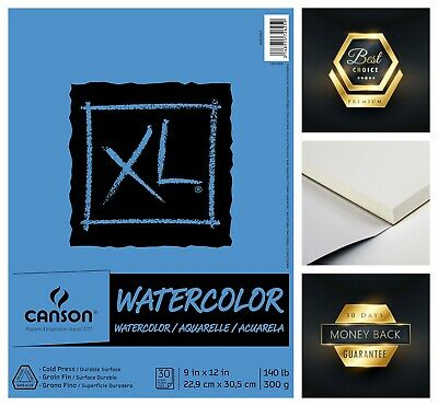"Canson XL Series 30-Sheets Watercolor Textured Paper Pad 9"" x 12"""