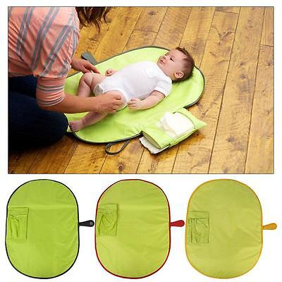 Baby Travel Changing Mat Folding Portable Diaper Wipe Clean Nappy Bag CB