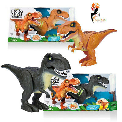 Zuru Robo Alive T-Rex Robotic Roaring Kids Birthday Christmas Gift Dark Green