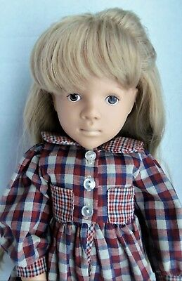 """Sylvia Natterer Gotz 18"""" Doll DELIA, Blonde rooted hair, with bad box"""