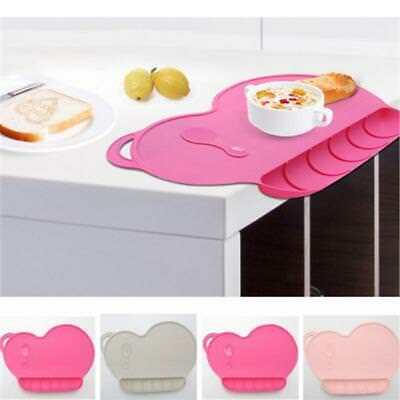 Baby Snack Mat Silicone Non-Slip Toddler Placemat Suction Table Plate-Dish CB