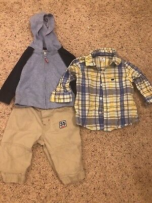Boys Mixed Clothing Lot Size 6-9 Months Brands Sonoma Lifestyle & Carter's Multi