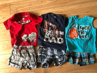 Boys Mixed Clothing Lot Size 9/12 Months Brands Child of Mine Carter's & Kidgets