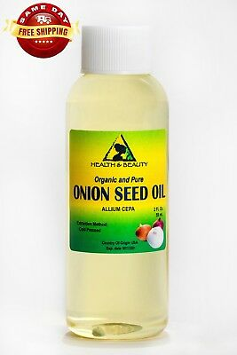 ONION SEED OIL ORGANIC PREMIUM COLD PRESSED by H&B Oils Center PURE NATURAL 2 OZ