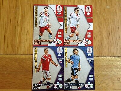 Panini Adrernalyn XL Fifa World Cup 2018 Scandinavian Star & Fifa World Cup Star
