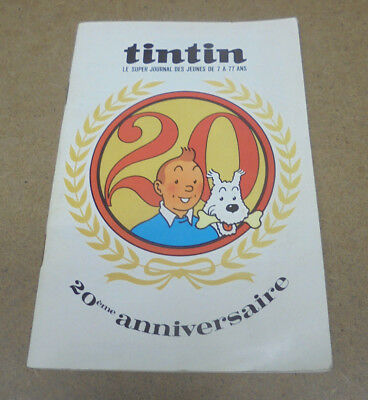 Jacobs / J. Martin / .. - Brochure Journal Tintin 20 Ans + 7 Dedicaces Signature