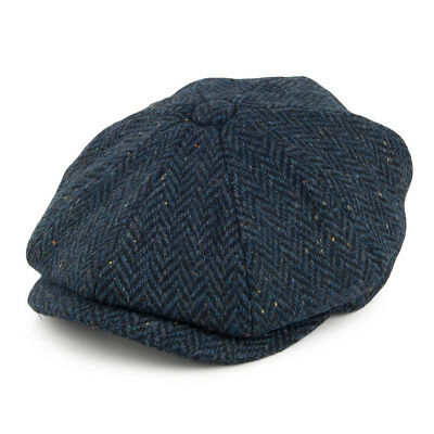 Jaxon & James Navy Blue Herringbone Newsboy Gatsby 8 Panel Newsboy Cap Hat