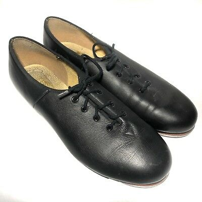 Bloch Womens Tap Shoes Size 8 London Black Leather Lace Up Oxford