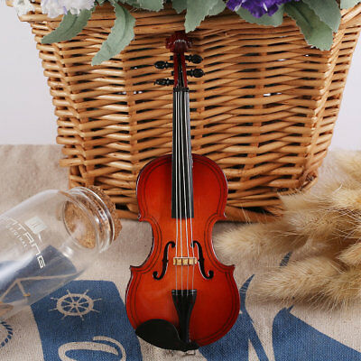 MG-250 Mini Musical Ornaments Wooden Craft Miniature Violin for Home Decor GI