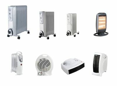 Electric Portable Small Or Large Oil Filled / Fan Heaters Easy Care Design