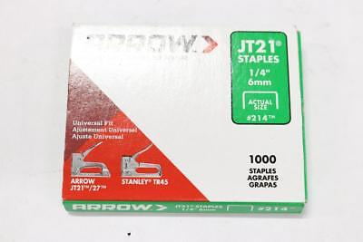 "Lot of 4 - Pack of 1000 Arrow JT21 Staples 1/4"" 6mm 214"