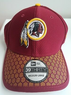 best service e42bc dd201 Washington Redskins NFL 2017 Sideline 39THIRTY Flex Hat Cap M L-New Era