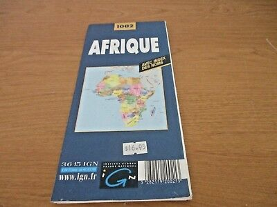 AFRIQUE 1002 FULL COLOR MAP in French