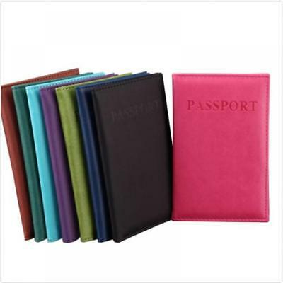 Travel Passport ID Credit Card Cover Holder Case Protector Organizer Leather New
