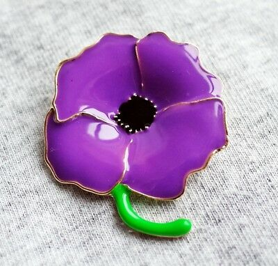 The Animals Of War Great New Purple Poppy Glossy Badge Lest We Forget 2019