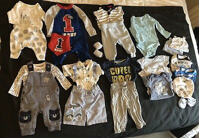 Baby Boy Summer/Spring Clothes Used Newborn and 0-3