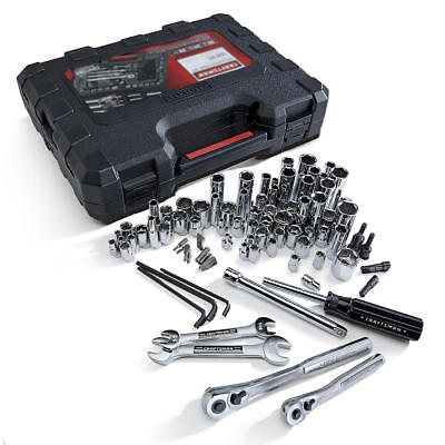 New Craftsman 108 pc. Mechanic's Tool Set SAE & Metric 6-Point Sockets With Case
