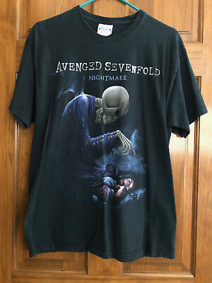 Avenged Sevenfold Nightmare Black Concert T-Shirt, Size L
