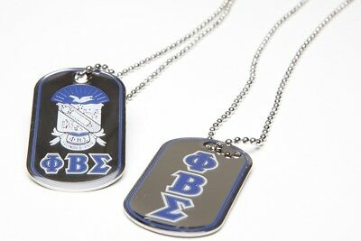 Phi Beta Sigma Fraternity Reversible Dog Tag-New!