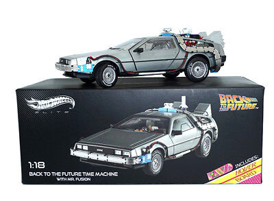 1:18 BACK TO THE FUTURE TIME MACHINE WITH MR. FUSION ELITE Car Model HOTWHEELS