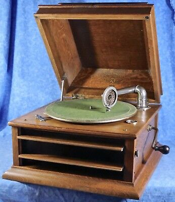 Antique Columbia GRAFONOLA Type C-2 Table Top Phonograph, Working, Early 1900s