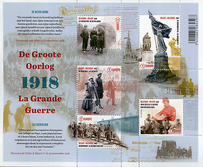 Belgium 2018 MNH WWI WW1 Great War Liberation 5v M/S Military Stamps