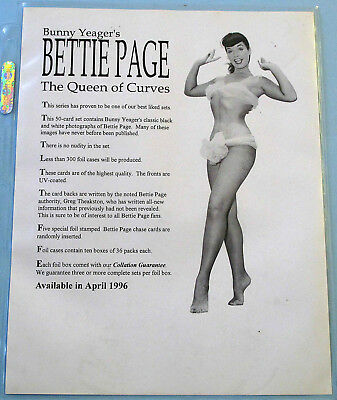 True NM/M Master Set 1996 Bettie Page The Queen Of Curves