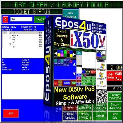 Epos PoS Software for Dry Cleaning, Laundry, Computer, mobile phone repairs etc