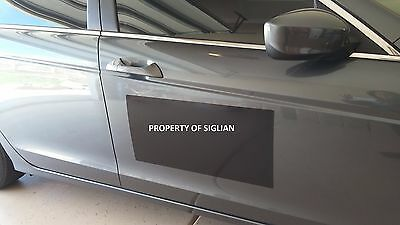 "24""x12"" Black Vehicle Magnet Sign 30 mil thick - MACHINE CUT (1 blank SHEET)."