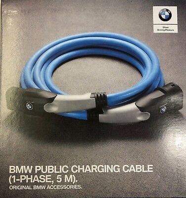 Genuine BMW i3/i8/225xe/330e/530e/X5 40ex Public Charging Cable 5M 61902455069