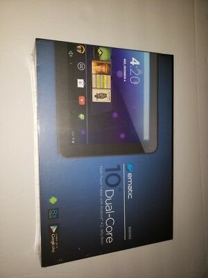 """EMATIC 10"""" Dual Core w/ Android 4.2 Jelly Bean Black Tablet  EGD103--NEW IN BOX"""
