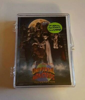 1991 Topps Universal Monsters Illustrated Trading Cards lot of 24 partial set