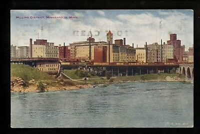Minnesota MN postcard Minneapolis, Milling District Vintage