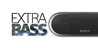 SEALED  Sony SRS-XB20 Extra Bass Portable Bluetooth Speaker - Black