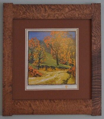 Mission Style Gustave Baumann Arts & Crafts Framed Print- Road of a Morning