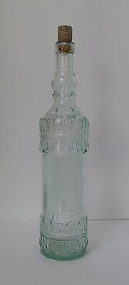 Rare Vintage Glass Bottle Cork Barware Green Shade Collectible Antique Spain