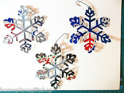Hand Made Snowflake Ornament Art Gift Soda Drink Can - SPECIAL SELECT 5 for $10